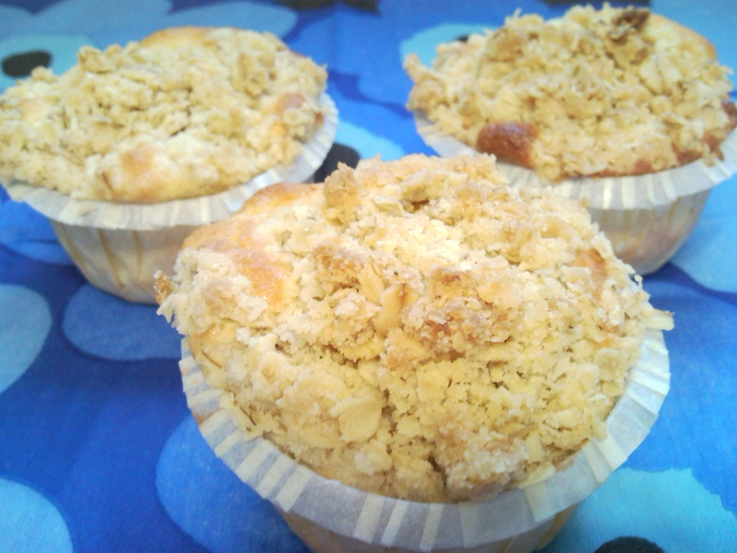 äppelmuffins med smuldegstopping