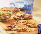 tortillapizza kyckling med fajitas
