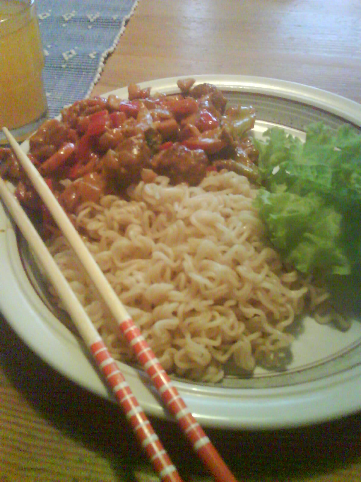 Chicken wok med..