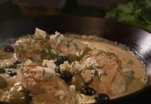 Citronkyckling med oliver och fetaost