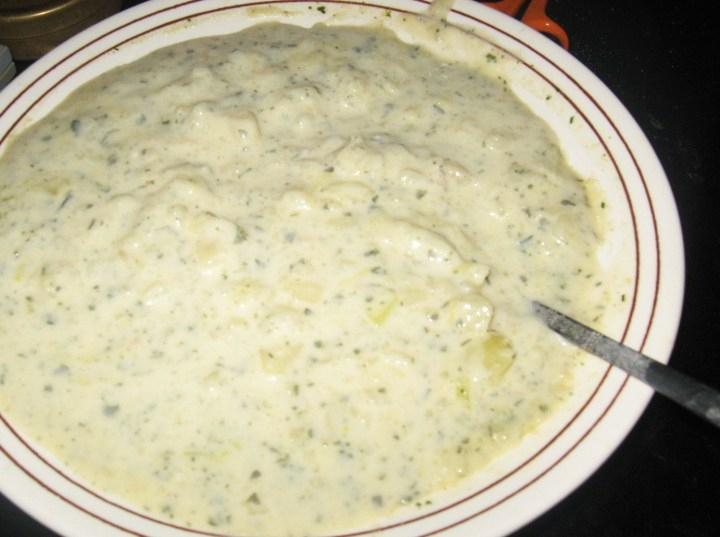 Thinas berömda potatissoppa (vegetarisk)