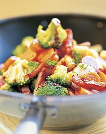 Kassler med wok..