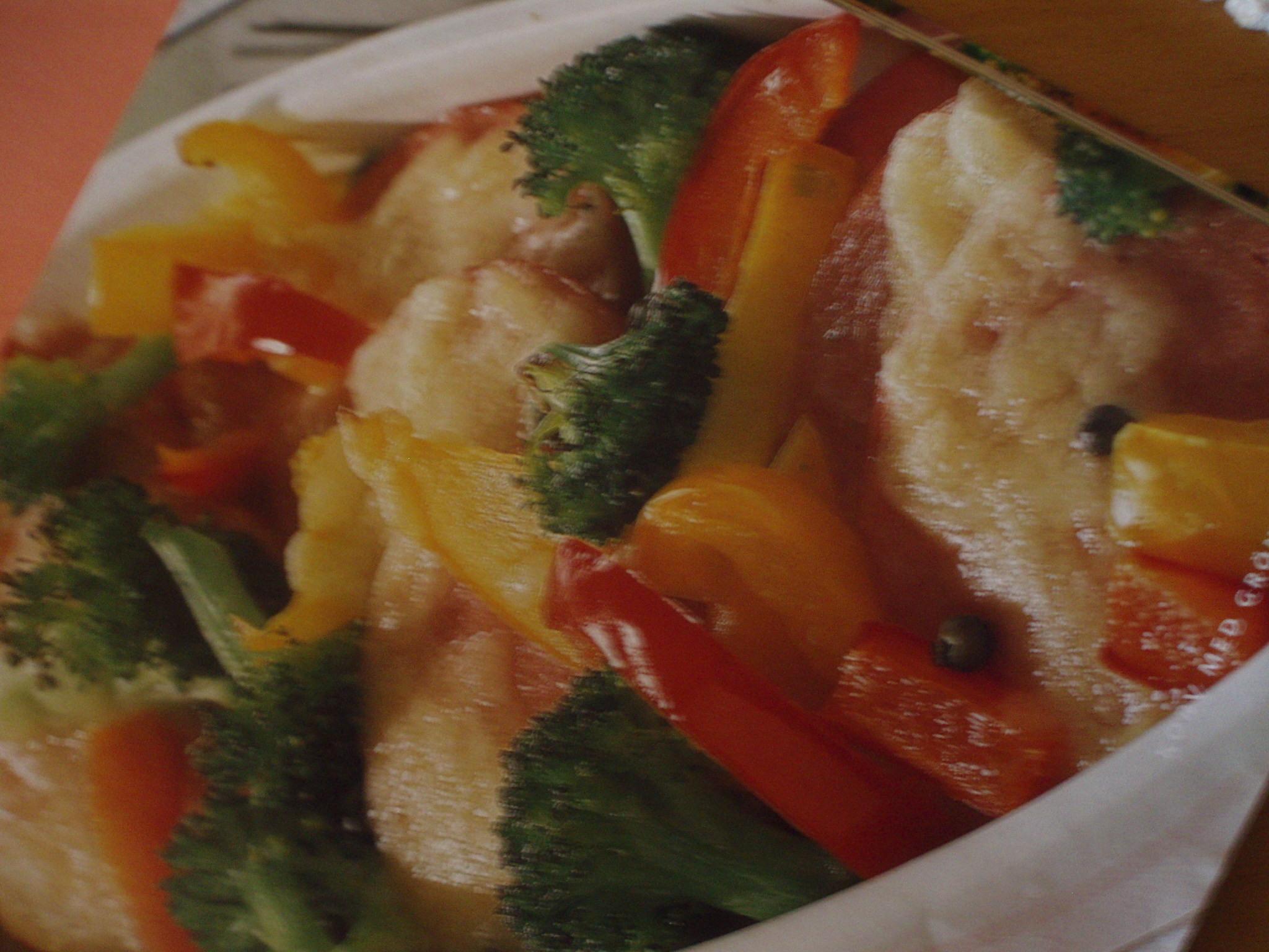 Korv med grönsakstäcke