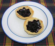 blåbärspaj med rabarber