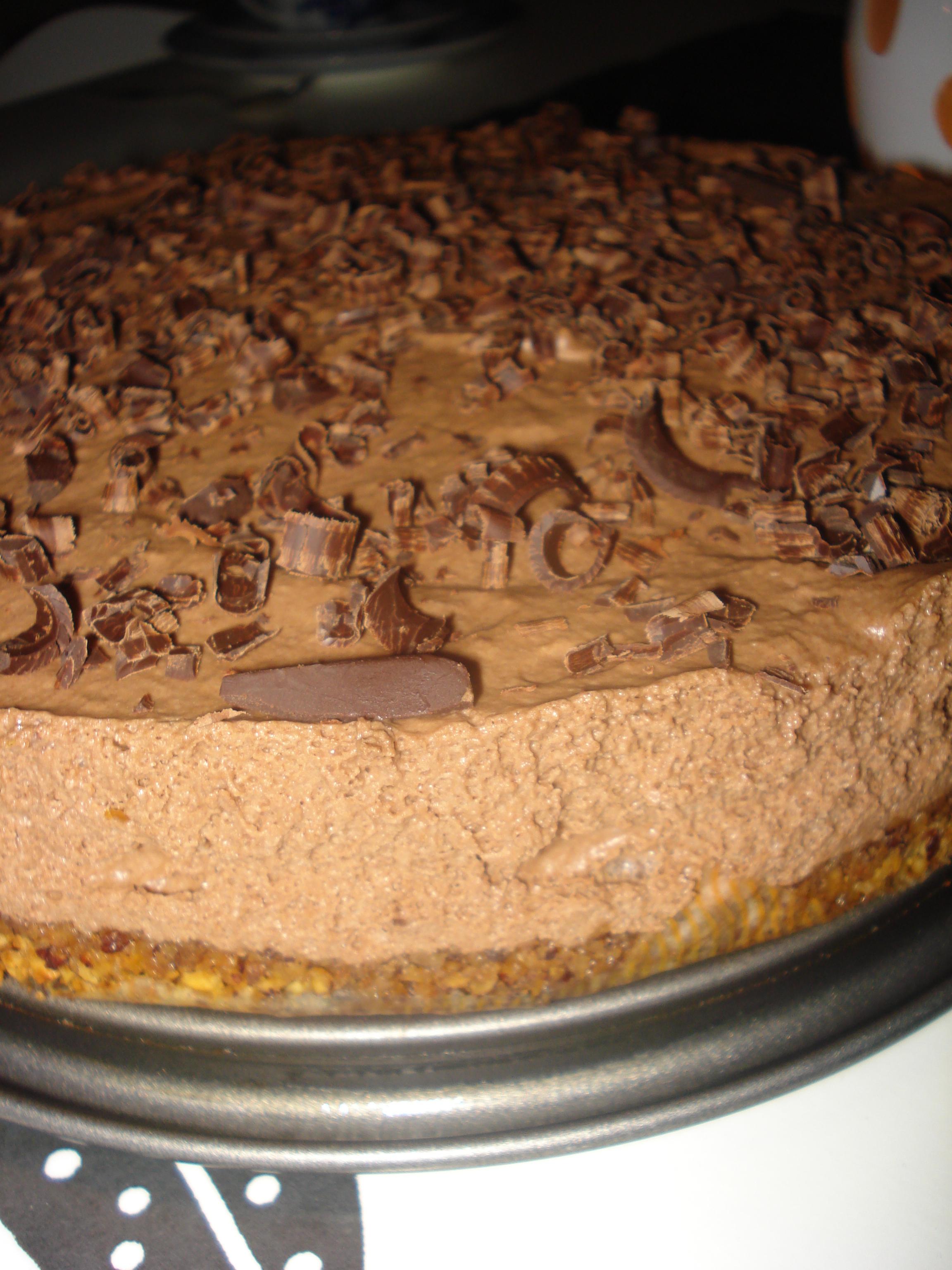 Chokladbakelse/Chokladcheesecake