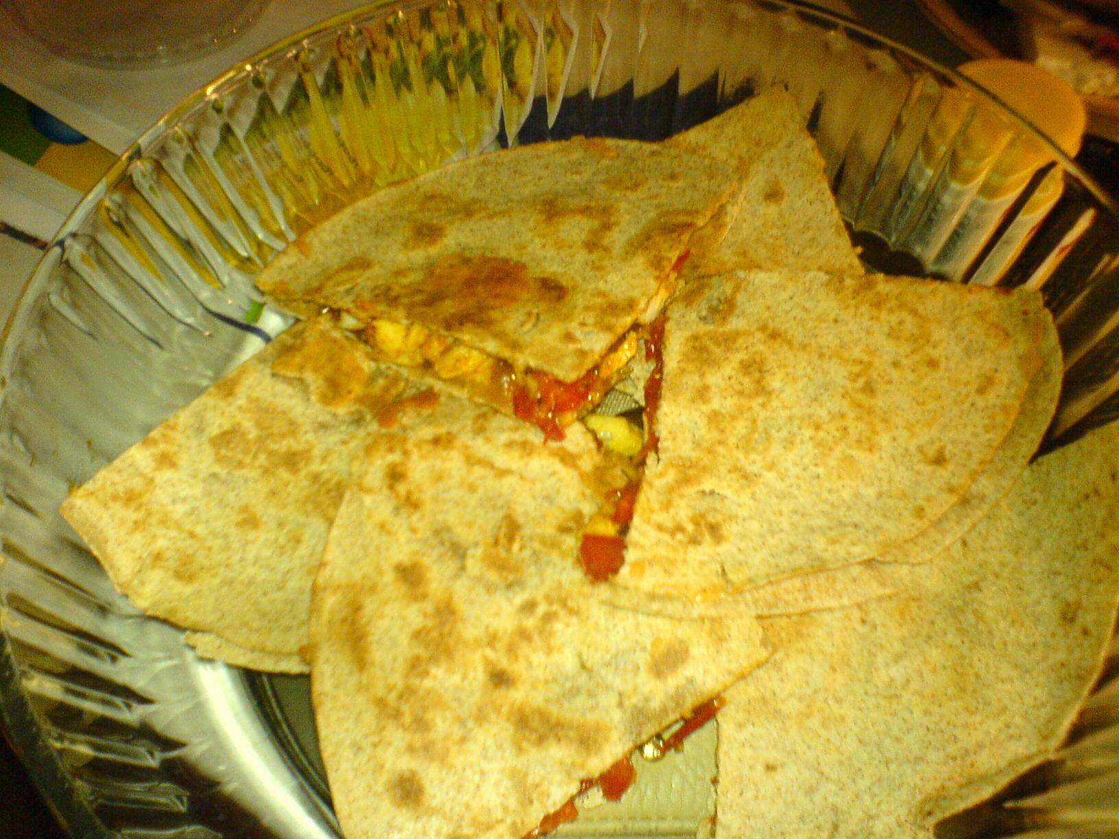 Kycklingquesadillas med taco-smak