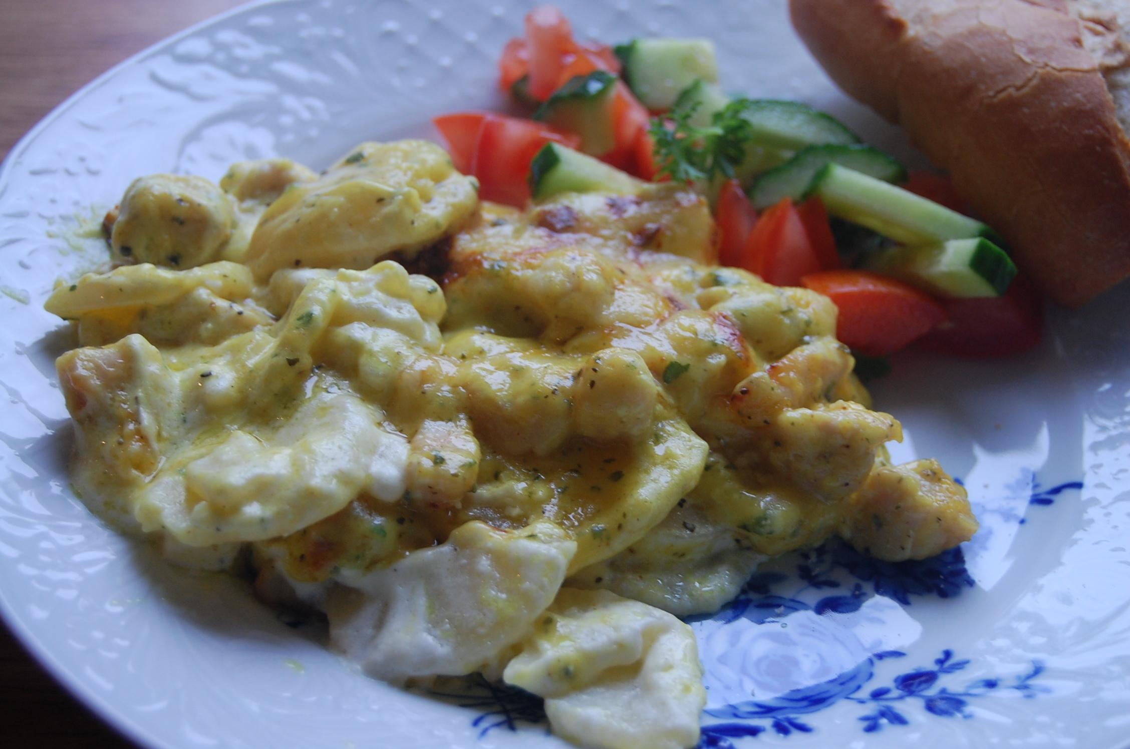Potatisgratäng med kyckling