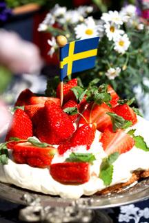 nyttig jordgubbstårta