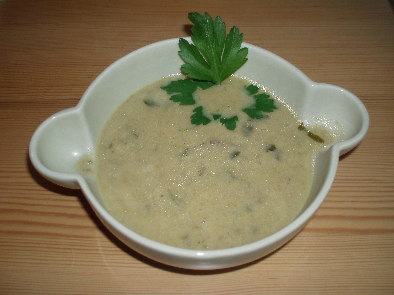 höns och champinjon soppa