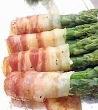 baconlindad sparris i ugn