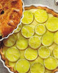 Sockerfri och mager citronpaj