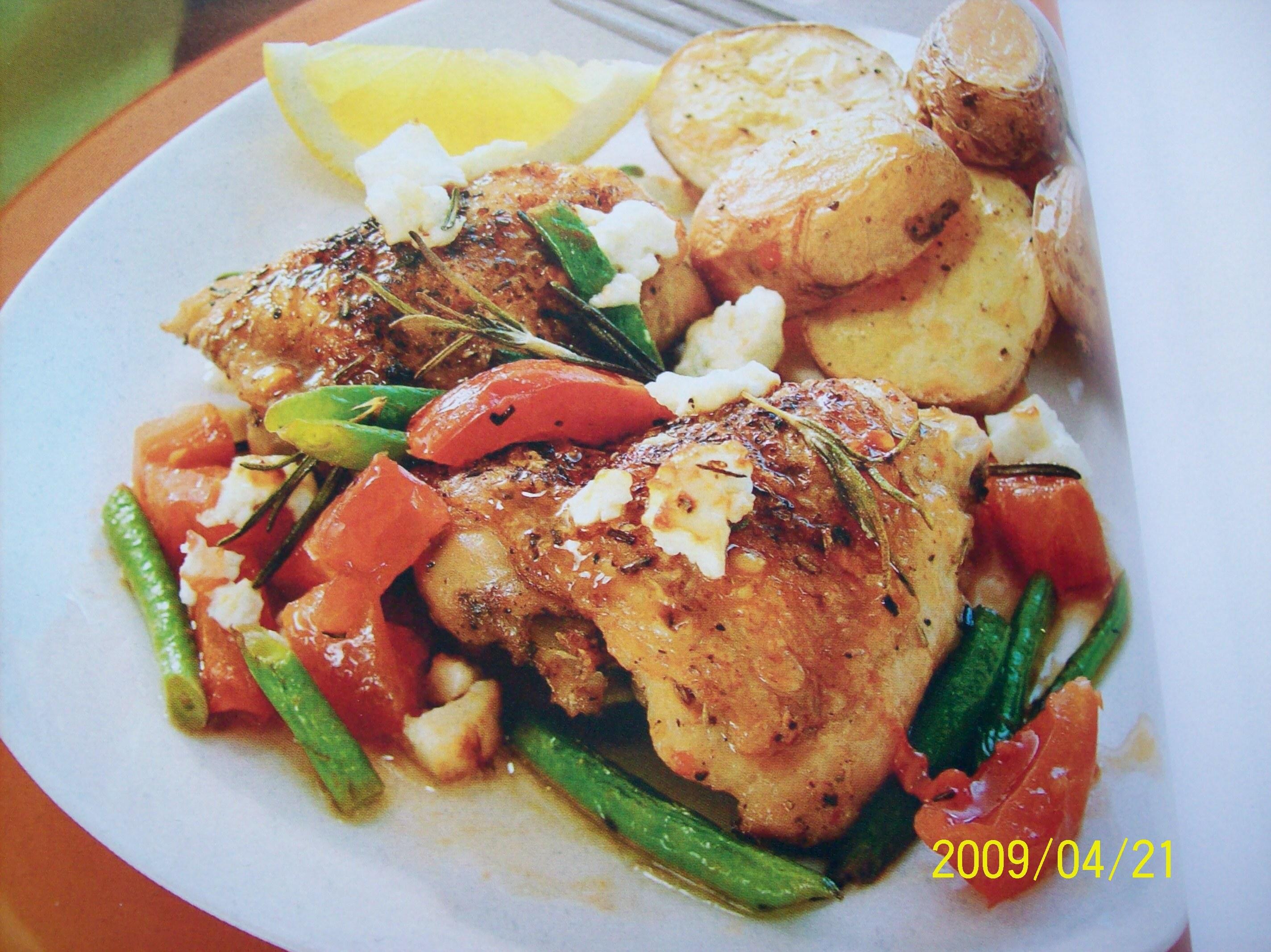 Ugnstekta kycklinglår med rosmarin och citron