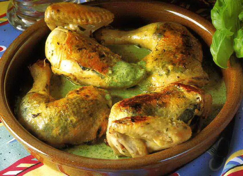 Späckad kycklin..