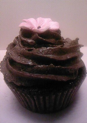 Mörk choklad tryffel cupcakes