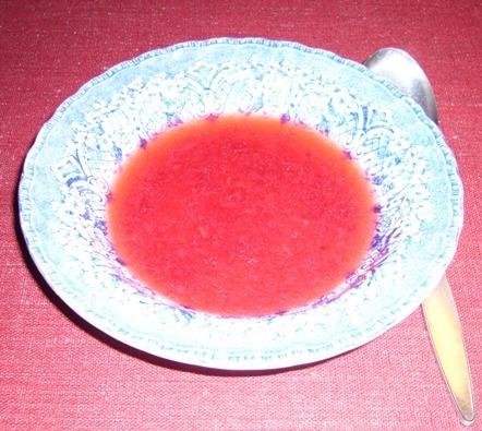 Röda vinbärskräm med äpple