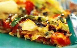 Pizza med salla..