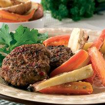 Biffar med fetaost och soltorkade tomater