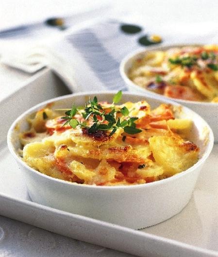 potatisgratäng i portionsformar