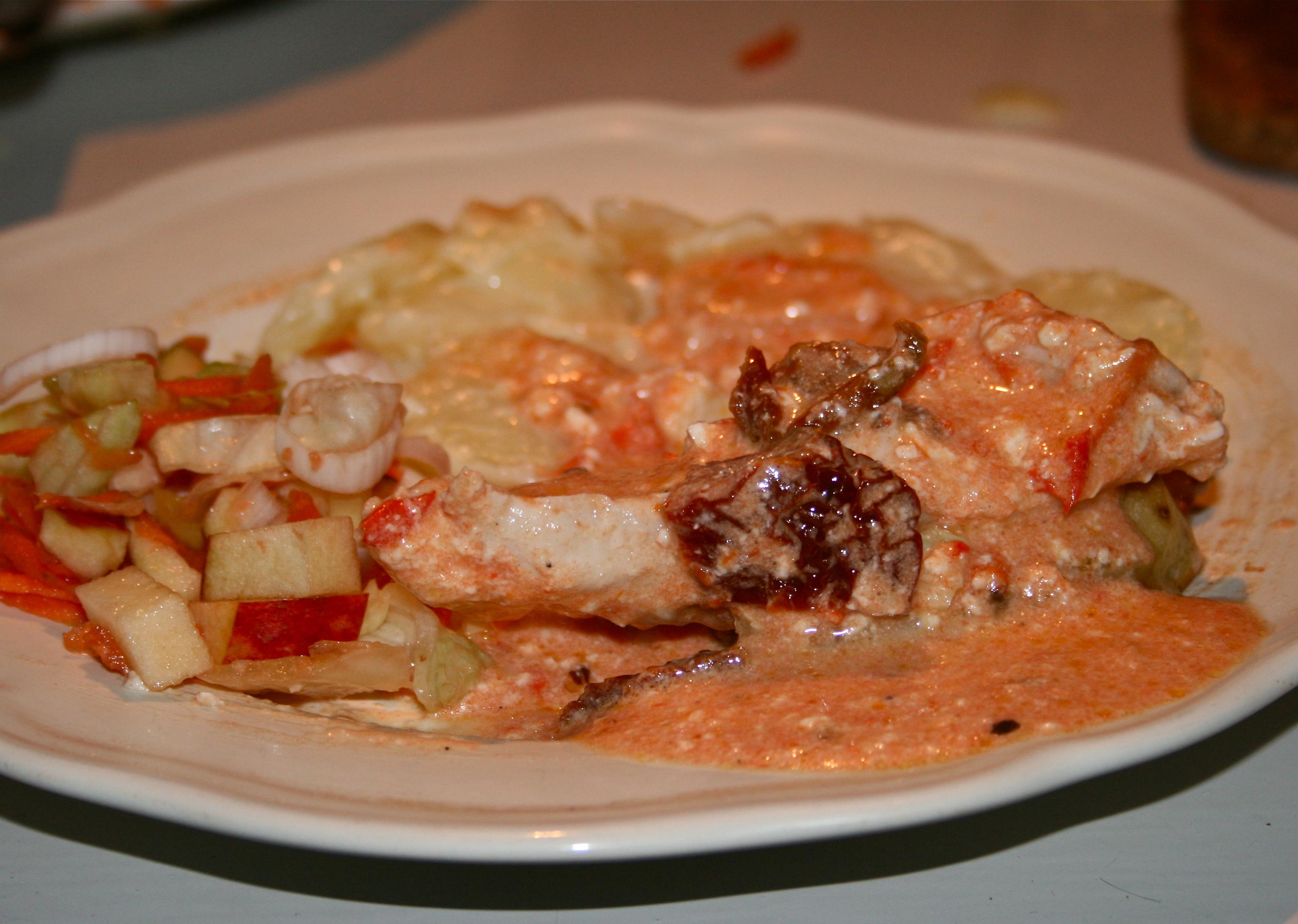 Kyckling med grillad paprika och fetaost
