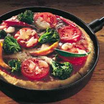 Panpizza med tomatsås