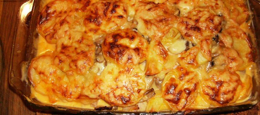 kasslergratäng med potatis