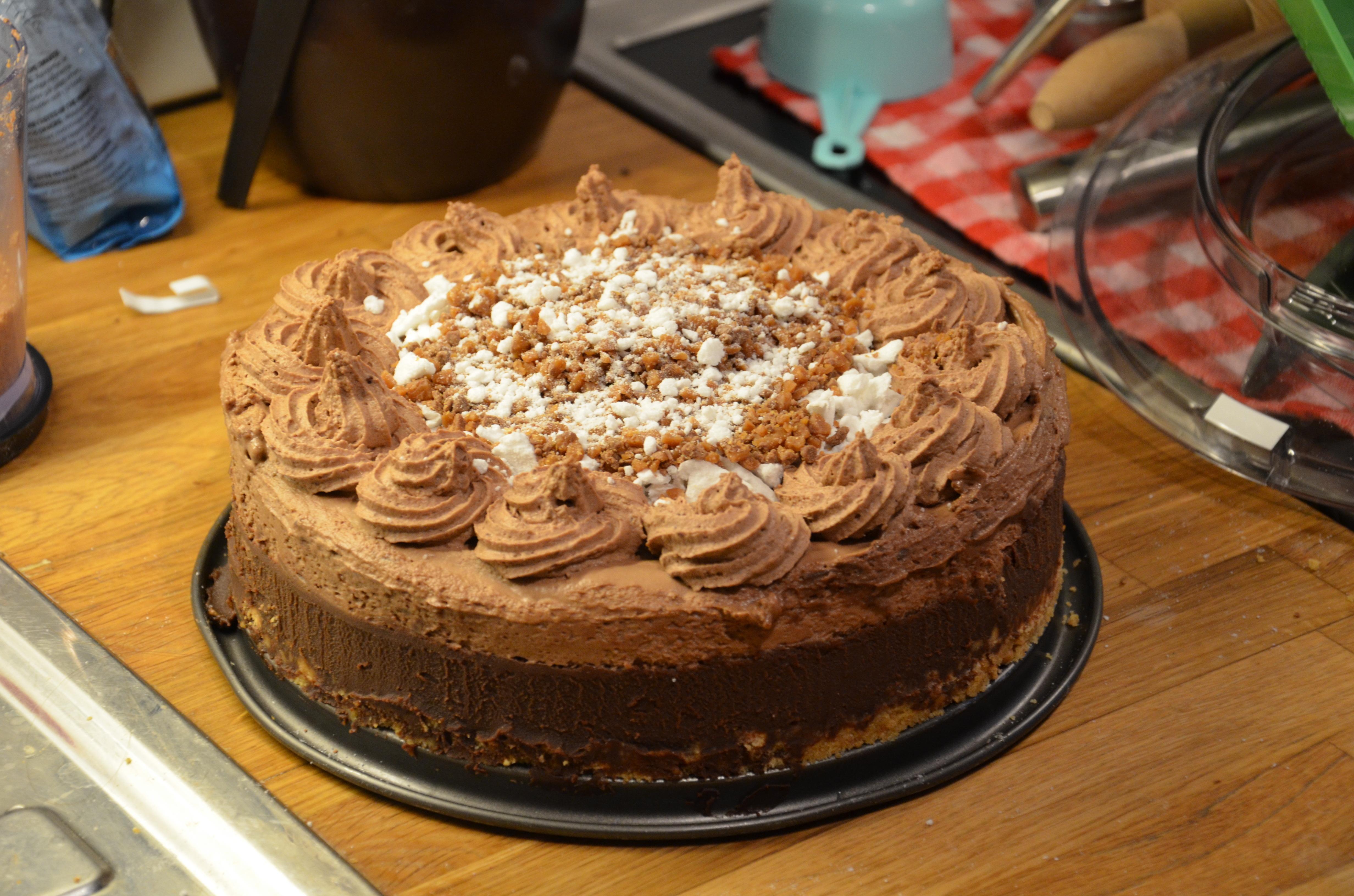 chokladpudding med daim