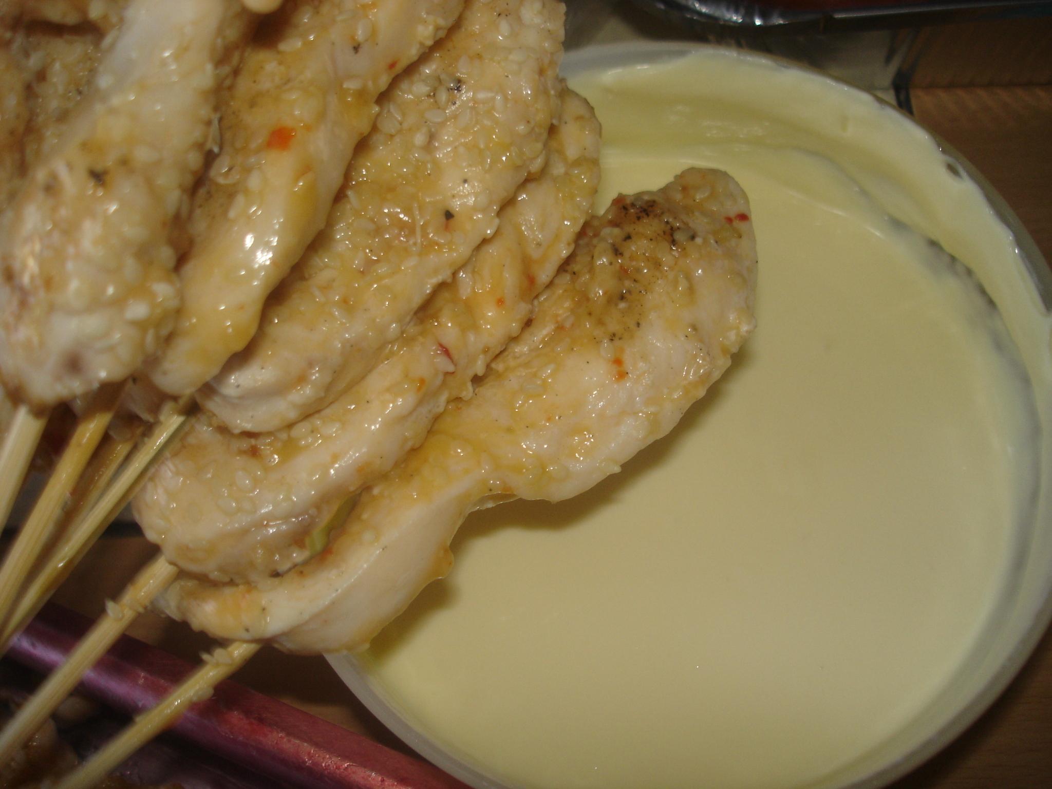 kycklingspett i ugn buffe