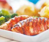 Baconlindad ostfylld kycklingfilé
