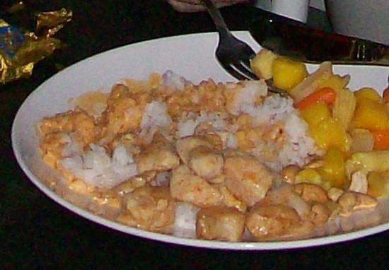 kycklingwok med frysta grönsaker