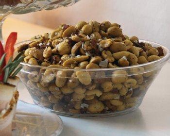 Baconrostade jordnötter