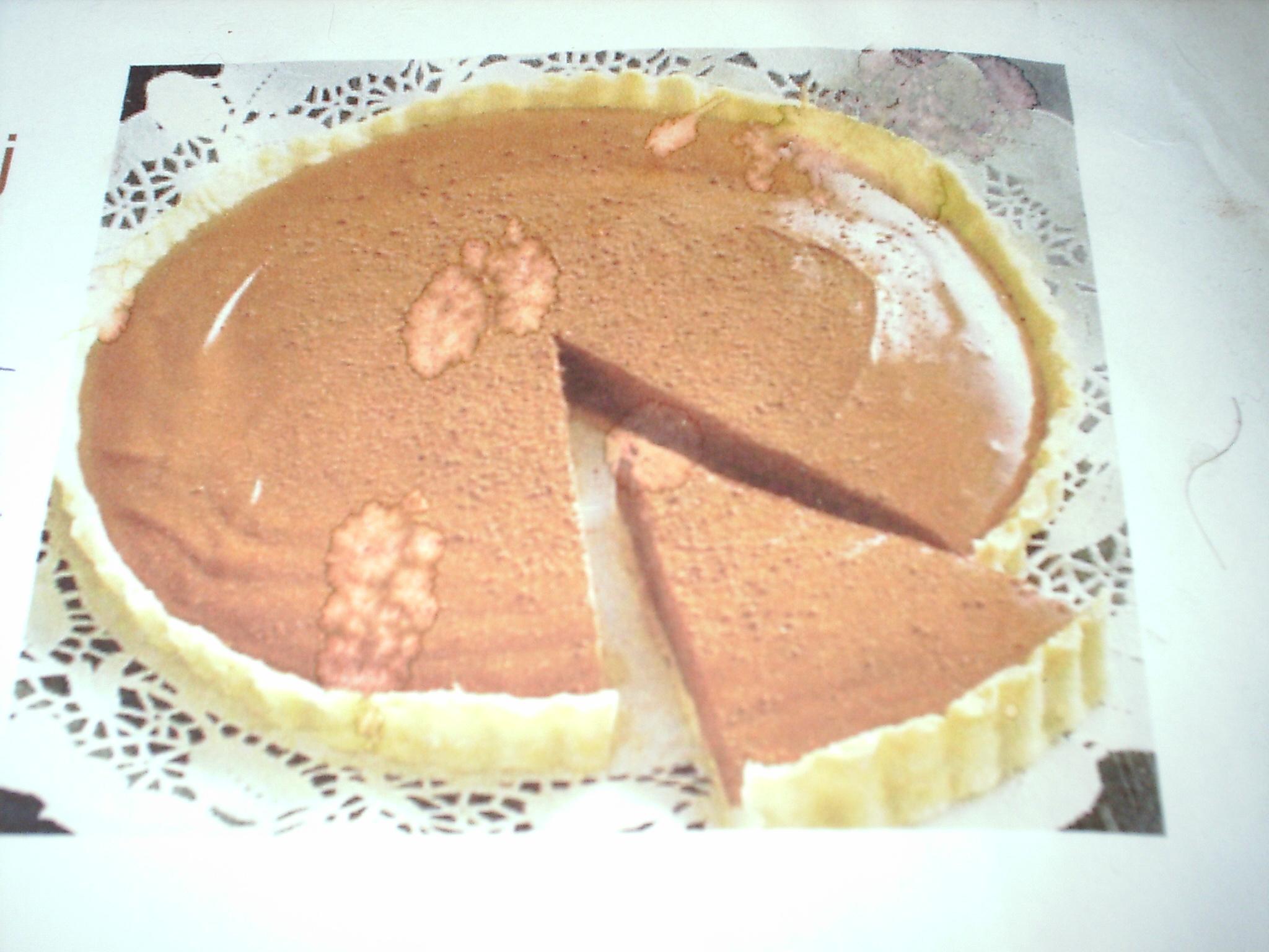 chokladsås som stelnar på kakao