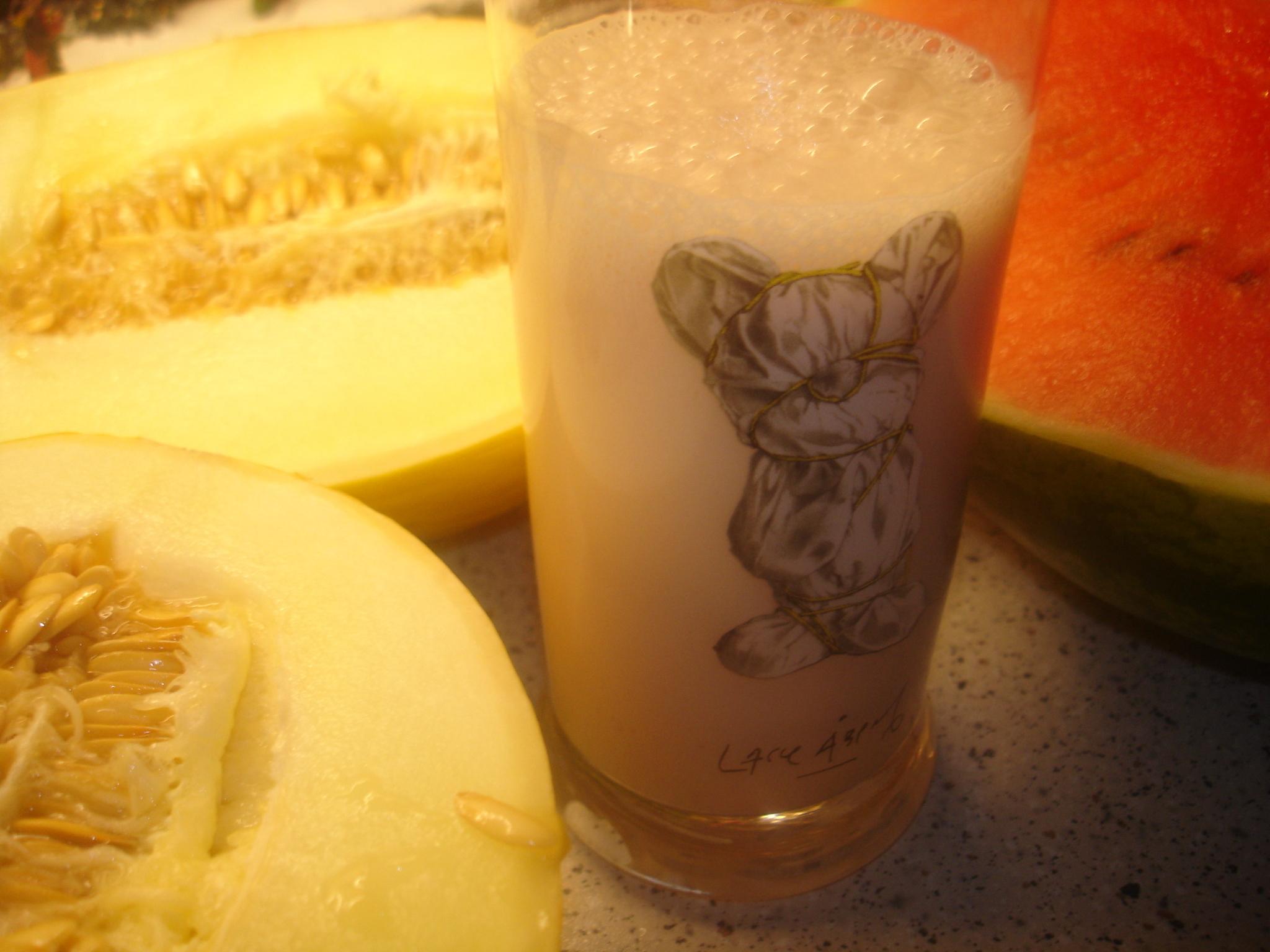 Hjortronsmoothie med honungsmelon