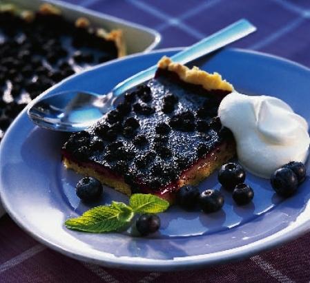 blåbär lime paj