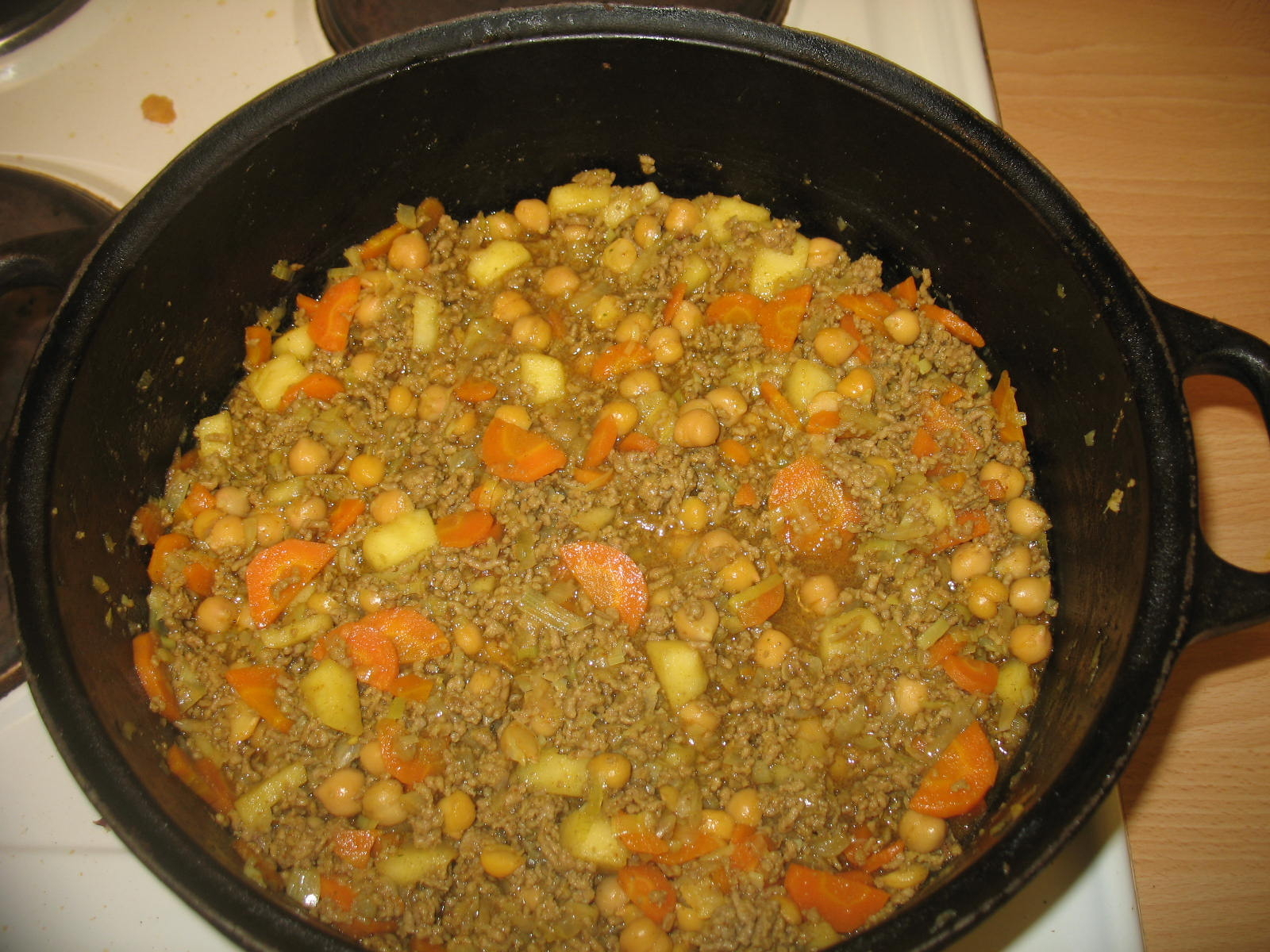 Currygryta med ..