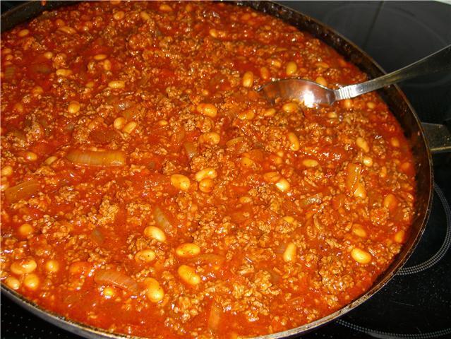 Chili con carne p� mitt vis