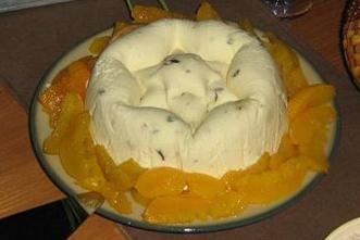 konserverade persikor efterrätt