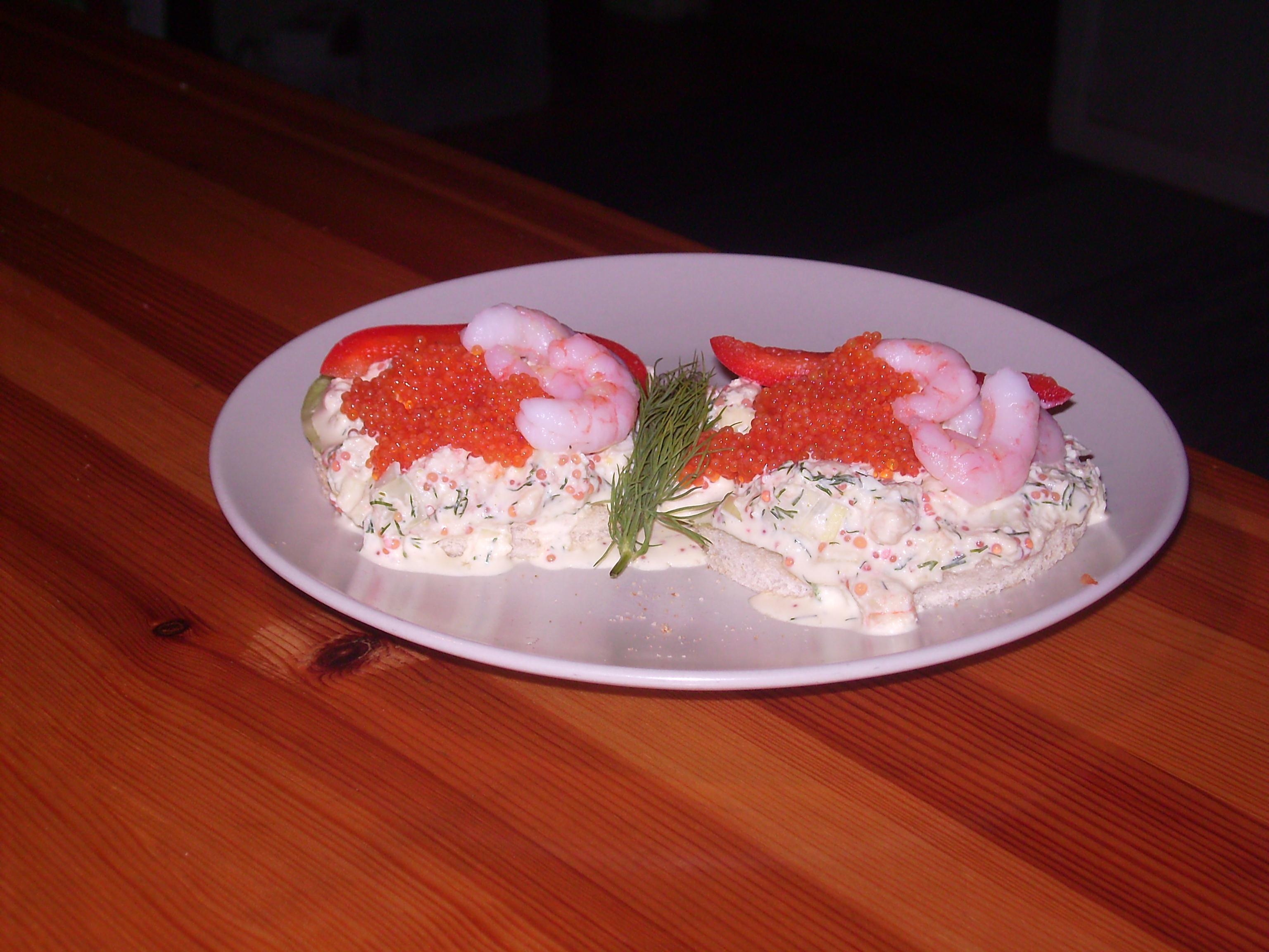 hemmagjord skagenröra utan majonäs