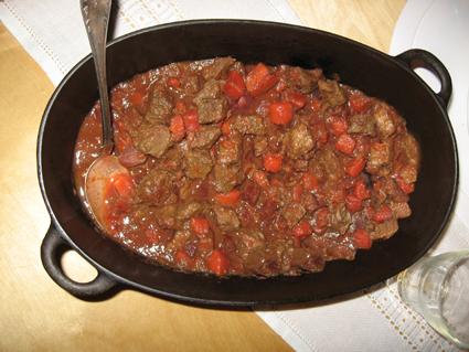 Köttgryta med rödbetor