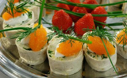 Sushi med västerbottensost och röd rom