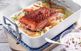 fläsk stek med svål