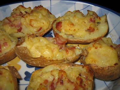 Stompad potatis med Västerbotten ost och bacon