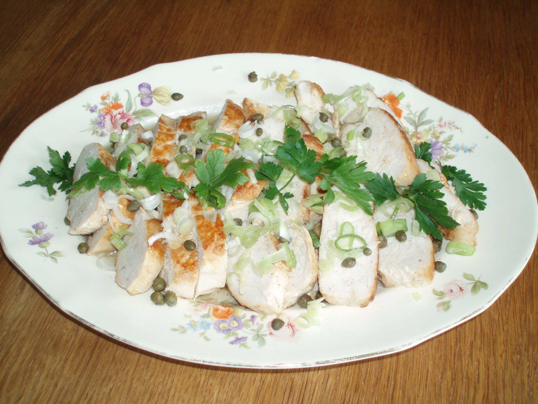 marinerad kycklingfilé med äppelcidervinäger