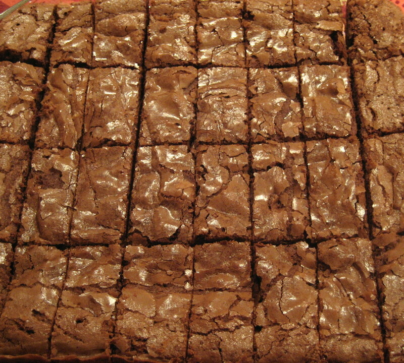 Triple choc brownie