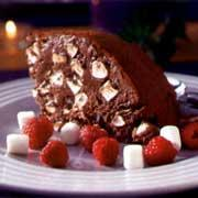 chokladglass med nötter