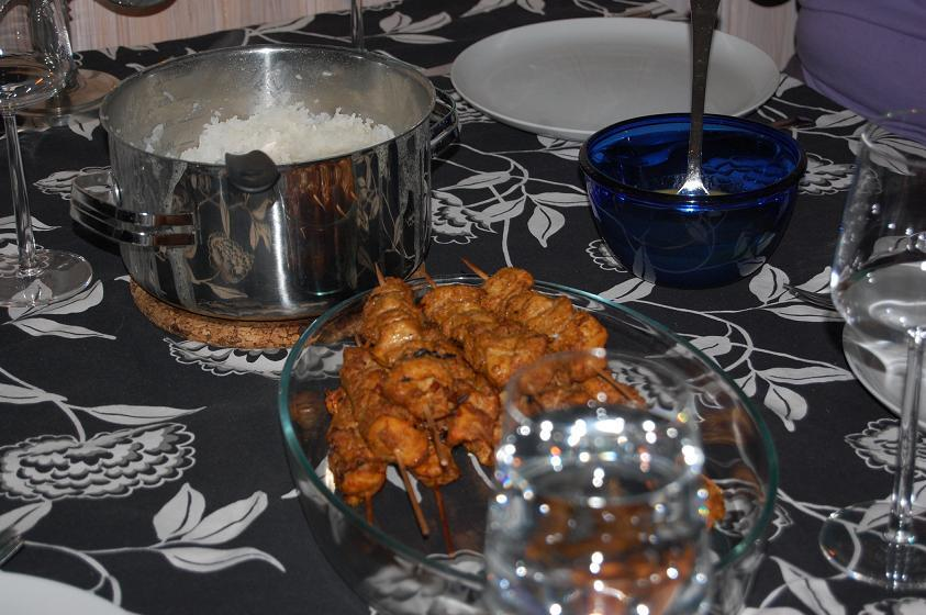 Kyckling satay ..