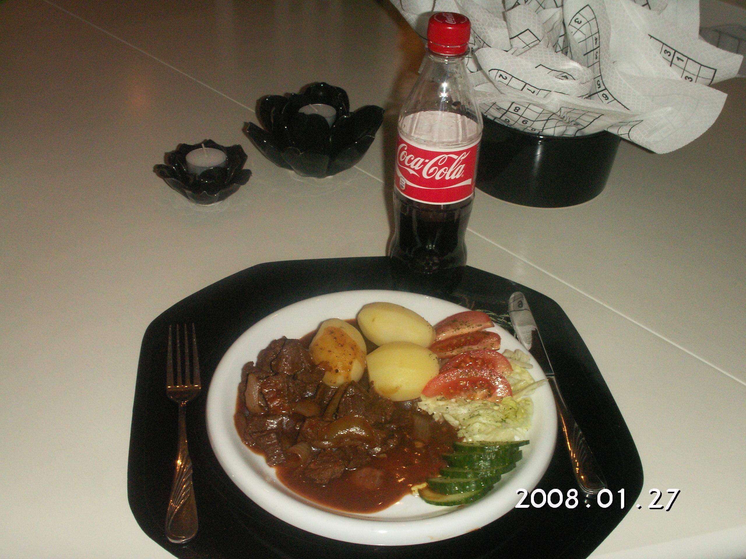 Köttgryta med Coca-Cola