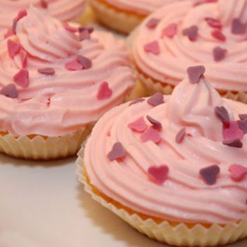 cupcakes rosa frosting