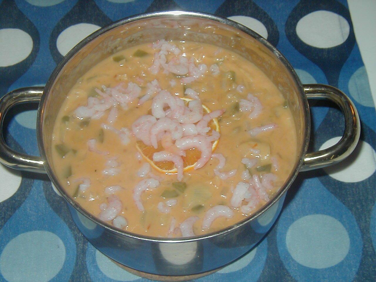 räkgryta med apelsinjuice chilisås