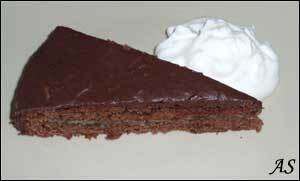 M G:s chokladkaka med bananfyllning