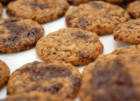Mini banan-choklad cookies